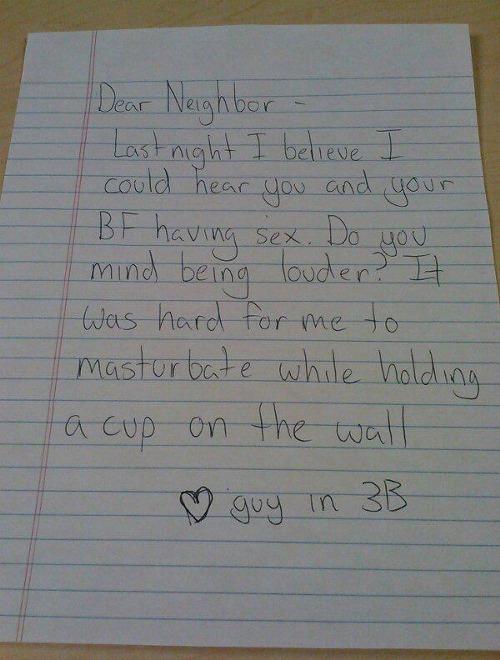 Beste buurvrouw,