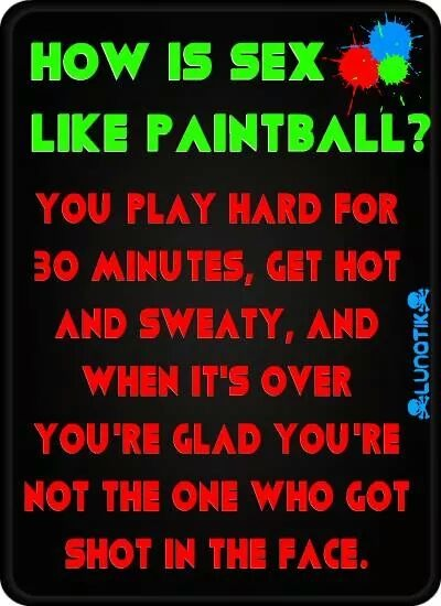 sex is als paintball