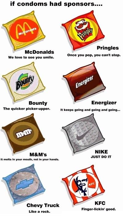 Als condooms sponsoren zouden hebben