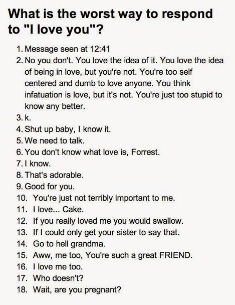 De 10 meest slechte reacties op 'Ik hou van jou'