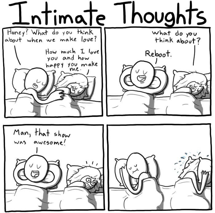 Intieme gedachten delen na de sex