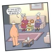 Ringwerpen in het bejaardenhuis