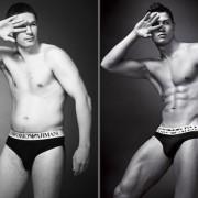 Hoe het eruitziet als 'gewone' mannen in ondergoed reclames te zien zouden zijn
