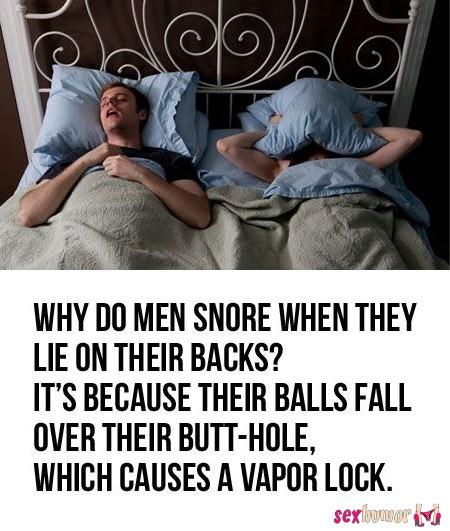 Waarom mannen snurken