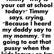 Why he braught his cat to school
